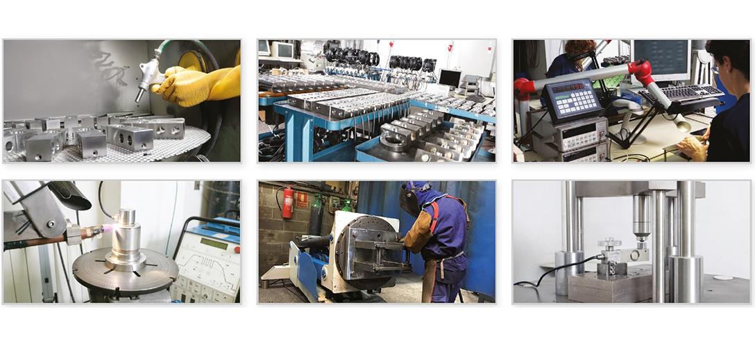 Máquinas para la fabricacion de celulas de carga, indicadores electrónicos de pesaje y accesorios de montaje